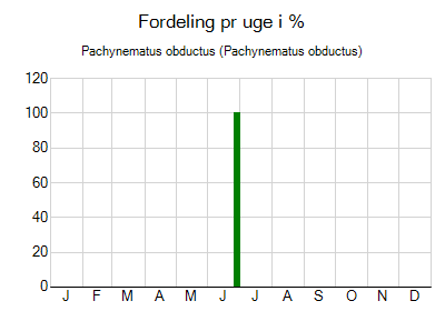 Pachynematus obductus - ugentlig fordeling